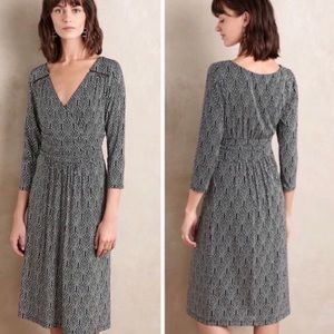 Anthropologie Maeve Long Sleeve Galena Midi Dress